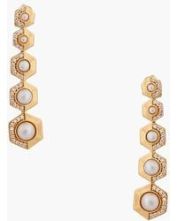 Rachel Zoe 'Sophia' Faux Pearl Drop Earrings white - Lyst
