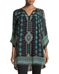 Nanette Lepore Sun City Printed 34-sleeve Tunic - Lyst