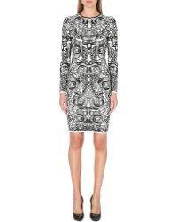Alexander McQueen Floral Jacquard-knit Dress - Lyst