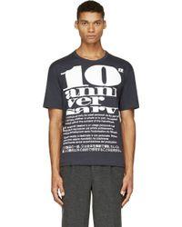 Kolor Navy Drab Tenth Anniversary Print T_shirt - Lyst