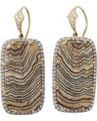 Pamela Huizenga - Fossilized Sequoia Earrings - Lyst