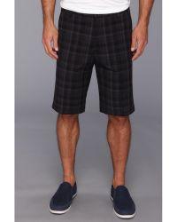 Calvin Klein Yarndyed Mid Size Plaid Slub Short - Lyst