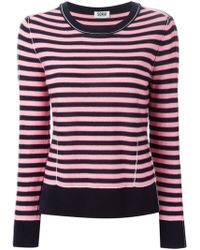 Sonia by Sonia Rykiel Striped Wool Sweater blue - Lyst