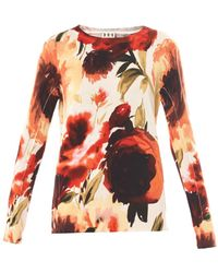 Haute Hippie Vanishing Floralprint Sweater - Lyst