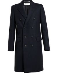 Saint Laurent Doublebreasted Wool Coat - Lyst