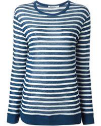 T By Alexander Wang Striped T-Shirt - Lyst