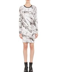 Helmut Lang Terrene-print Jersey Tunic Dress - Lyst