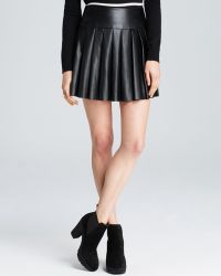Ella Moss Skirt - Raquel Pleated Faux Leather - Lyst
