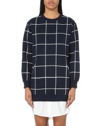 Izzue - Checked Jersey Dress - Lyst