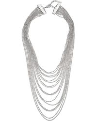 Vince Camuto Layered Multi Chain Necklace - Lyst