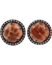 Colette Fossilized Coral Stud Earrings - Lyst