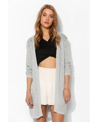 Pins And Needles - Pins and Needs Pointelle Hooded Cardigan - Lyst