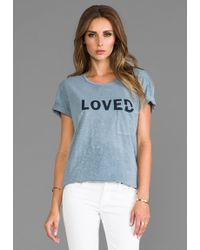 Textile Elizabeth And James Loved Bowery Tee in Slate - Lyst