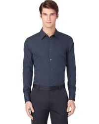 Calvin Klein Slim Fit Poplin Mini Stripe Sport Shirt - Lyst