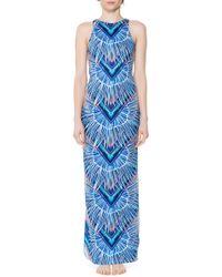 Mara Hoffman Column Dress blue - Lyst