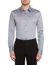 Hugo Elisha Slim Fit Textured Shirt - Lyst