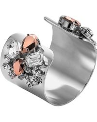 Mews London - Large Rose Silver Cuff - Lyst
