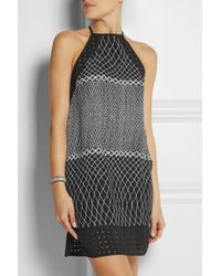 Zimmermann Perforated Printed Crepe Dress - Lyst