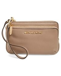 MICHAEL Michael Kors | 'small Bedford' Leather Wristlet | Lyst
