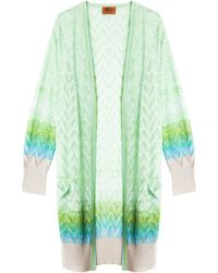 Missoni Striped Cardigan - Lyst