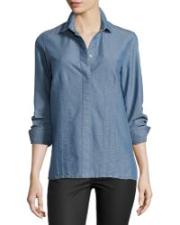 Stella McCartney Long-Sleeve Snap-Front Shirt - Lyst