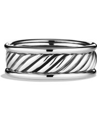 David Yurman Cable Band Ring with Gold - Lyst