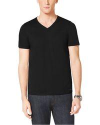 Michael Kors Cotton-Jersey V-Neck T-Shirt - Lyst