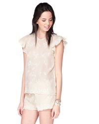 Antik Batik Short Sleeve Top - Romantic1Tee white - Lyst