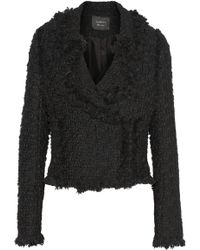 Lanvin Wool-blend Tweed Biker Jacket - Lyst