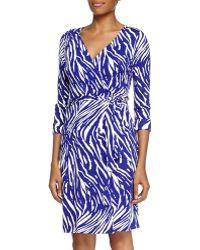 Diane von Furstenberg Tiger Shadow Wrap Dress - Lyst