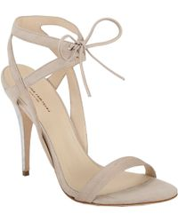 Narciso Rodriguez Ankle Tie Sandals - Lyst