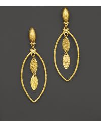 Gurhan Willow Mini Marquise Earrings in 24k Yellow Gold - Lyst