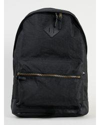 Topman Black Washed Backpack - Lyst