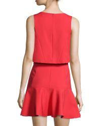 Black Halo - Shawna Crop-top Dress With Flounce Skirt - Lyst