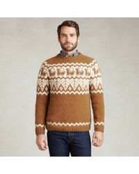 Industry of All Nations Alpaca Hand-Knit Sweater beige - Lyst