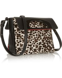 Christian Louboutin Passage Mini Leopardprint Calf Hair and Texturedleather Shoulder Bag - Lyst