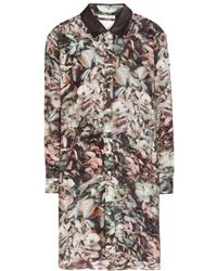 Each X Other Leathertrimmed Floralprint Silk Shirt Dress - Lyst