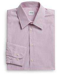 Armani Textured Stripe Dress Shirt - Lyst