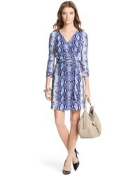 Diane Von Furstenberg Heritage New Julian Two Mini Silk Jersey Wrap Dress - Lyst