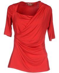 Max Mara Studio T-Shirt red - Lyst