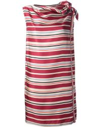 See By Chloé Striped Slash Neck Dress - Lyst