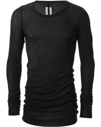 Rick Owens Black Long Top - Lyst