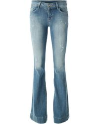 J Brand Distressed Flared Jeans - Lyst