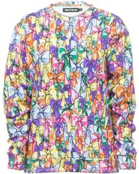 House Of Holland Printed Sweat Bow - Lyst