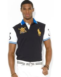 Polo Ralph Lauren Black Watch Custom-fit Color-blocked Polo Shirt - Lyst