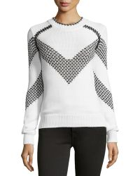 Thakoon - Long-sleeve Chevron Sweater - Lyst