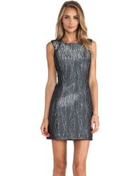 Milly Metallic Shift Dress - Lyst