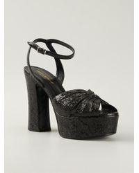 Saint Laurent Candy Leather Sandals - Lyst