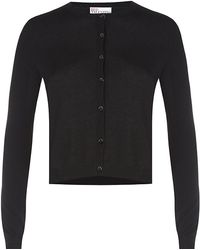 RED Valentino Cropped Silk Cashmere Cardigan - Lyst
