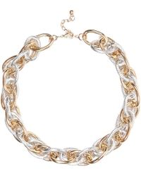 River Island Gold and Silver Tone Mixed Metal Necklace - Lyst